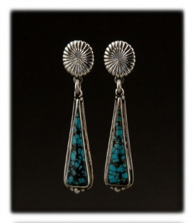 Turquoise inlay drop earrings