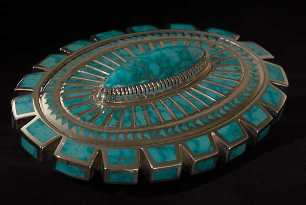 Inlay Turquoise Jewelry by Vernon Haskie