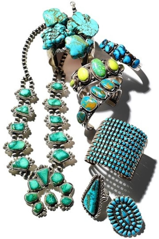 Turquoise Jewelry Information  as seen in Vogue Magazine