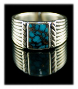 Turquoise Mens Band Ring