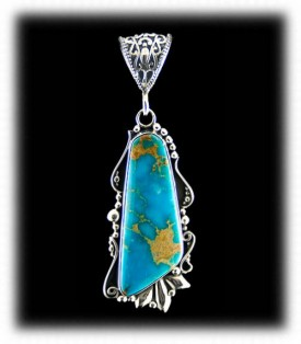 Handcrafted Turquoise Pendant