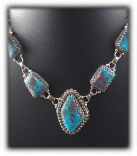 Turquoise Silver Necklace - Pendant