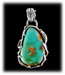 Royston Turquoise Pendant made in America