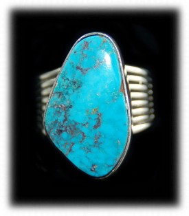 925 Silver Ring with Blue Turquoise