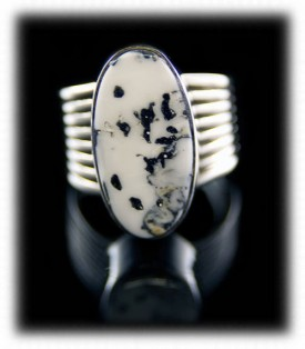 Turquoise Ring with White Buffalo Turquoise