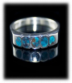 Inlaid Turquoise Silver Band
