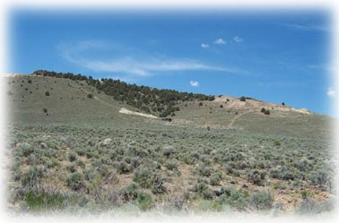 Dry Creek, Burnham, Godber Turquoise mine in Nevada - photo Woods Turquoise