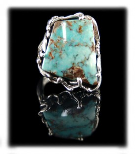Dru Creek Turquoise ring by Crystal Hartman