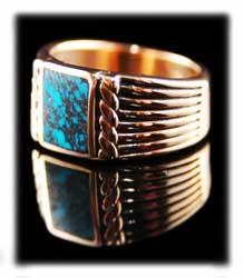 Lander Blue Turquoise Ring