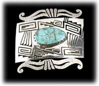 Warm Springs Turquoise Buckle - Wadell Trading Co.
