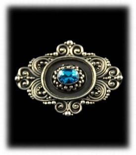 Blue Topaz Pendant - 925 Silver Jewelry