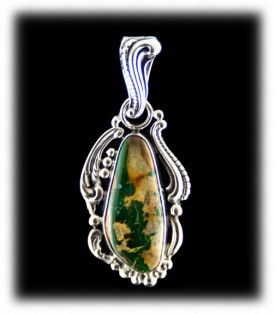 Victorian Ribbon Turquoise Amulet