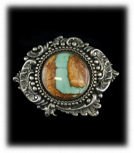 Victorian Turquoise and Silver Buckle