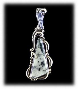 Victorian Silver Ore Pendant