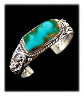 Royston Turquoise Bracelet - Victorian Silver Design