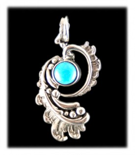 Victorian Silverwork with a Sleeping Beauty Turquoise Gemstone