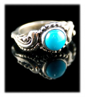 Victorian Style Blue Turquoise Ring by John Hartman