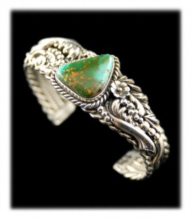 Nevada Green Turquoise Victorian Style Bracelet
