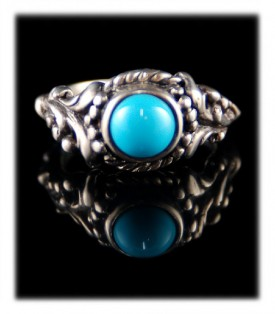 Victorian Style Turquoise Ring Bands