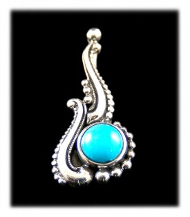 Victorian Turquoise Necklace - Pendant