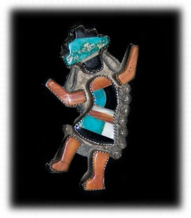 Vintage Zuni Inlay Rainbow Man