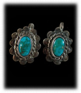 Navajo Handcrafted Vintage Turquoise Earrings