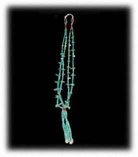 Vintage Santo Domingo Turquoise Beads