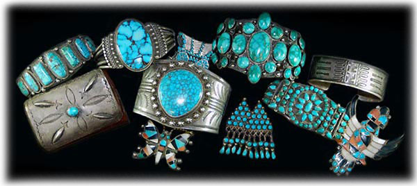 Vintage Silver Jewelry - Zuni Indian Bracelet