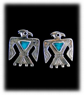 Vintage Style Turquoise Earrings - by Durango Silver Co