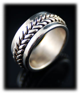 Mens Silver Wedding Bands