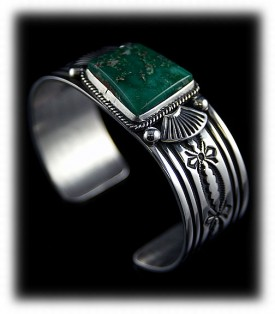 Western Silver Bracelet - Navajo Hand Stamped