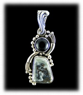 Western Silver Ore Pendant