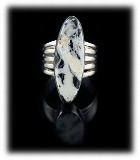 Womens White Turquoise Ring