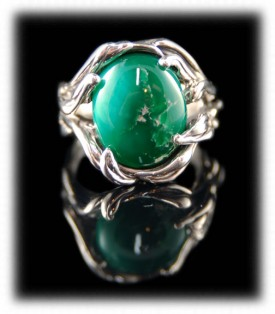 Green Turquoise Ring by Crystal Hartman