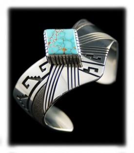 Kingman Turquoise bracelet for women