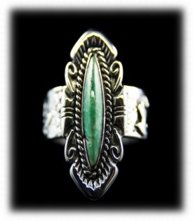 American Jewelry - Womens Silver and Turquoise Ring