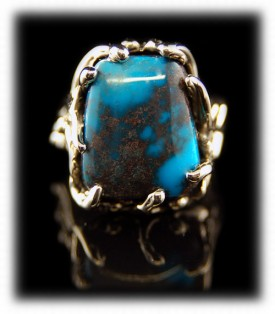 Bisbee Turquoise in Gold - Ladies Ring