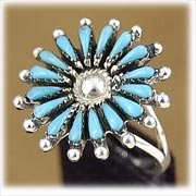 Classic Petti Point Ladies Turquoise Ring