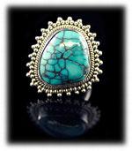 Spiderweb Turquoise Jewelry - Tibetan Turquoise