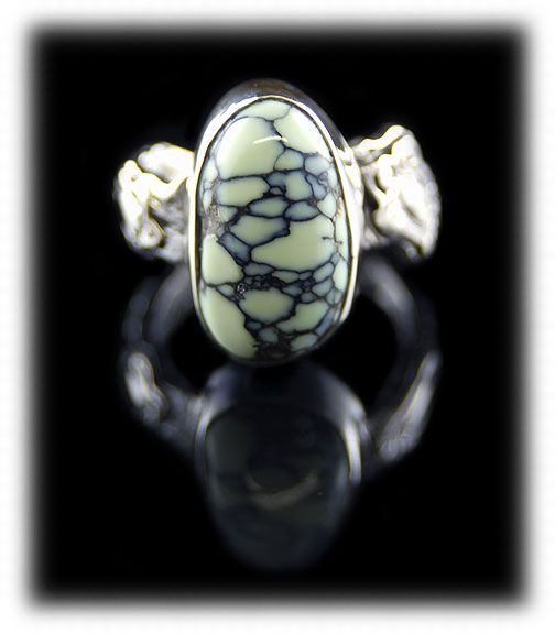 Mint green Spiderweb Tortoise Turquoise  ring