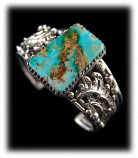 Women's Turquoise Bracelet with Pilot Mountain Turquoise