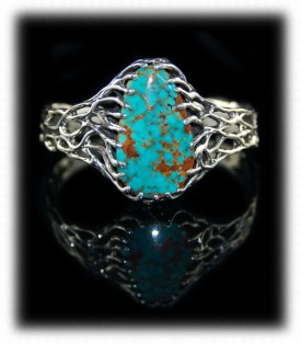 Lost Wax Turquoise Mountain Turquoise bracelet for women