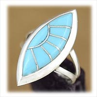 Classic womens turquoise ring