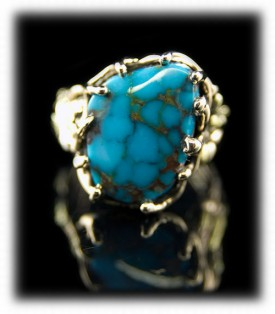 Villa Grove Turquoise Gold Ring