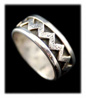 Sterling Silver Ring Band - Zigzag Design
