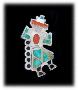 Zuni Jewelry - Rainbow Man Pin