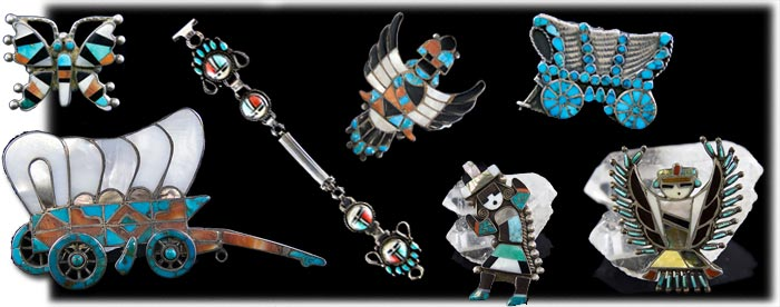 Zuni Indian Inlay Jewelry