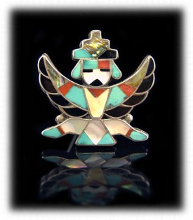 Zuni Knifewing Pin - Indian Jewelry