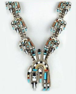 Zuni Inlay Jewelry Necklace