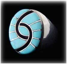 indian turquoise jewelry inlay ring
